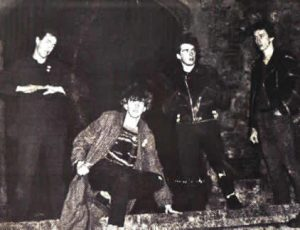Late 1979 with Spon in the new line-up left to right, Spon,Abbo.Segovia, Steve Harle