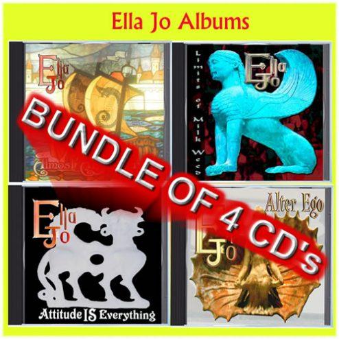 Ella Jo Complete set of four CD Album's