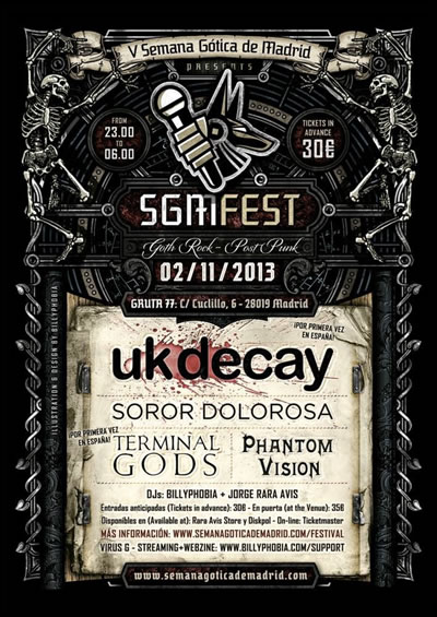 UK Decay Live at TheSGM-Fest, Madrid, Spain, Saturday November 2 - Tickets available here....